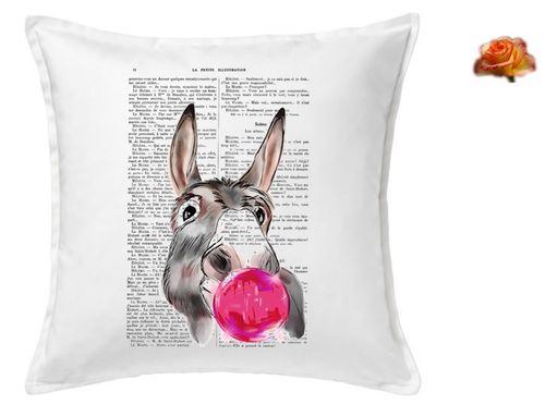 Cushion Cover Page of Donkey and Bubble Book