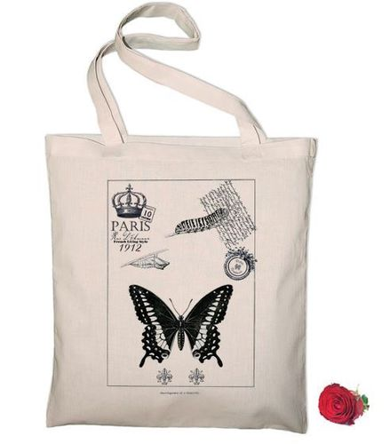 Sac Tote Bag Carte Postale Evolution du Papillon