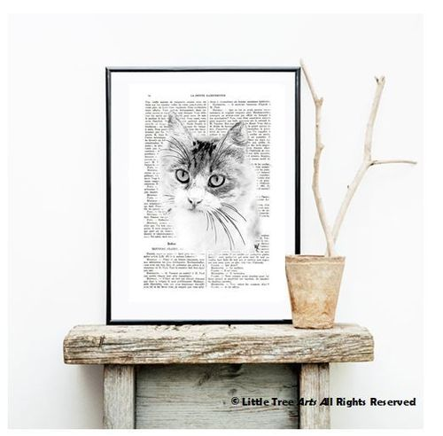 Personalized Animal Portrait Book Page